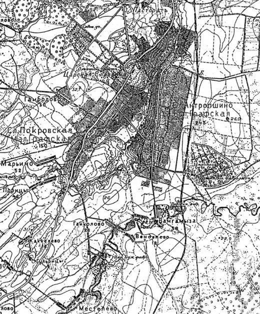 Топографическая карта 1895 г.