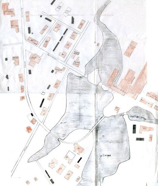 План посёлка при фабрике «Коммунар» (1934 г.)
