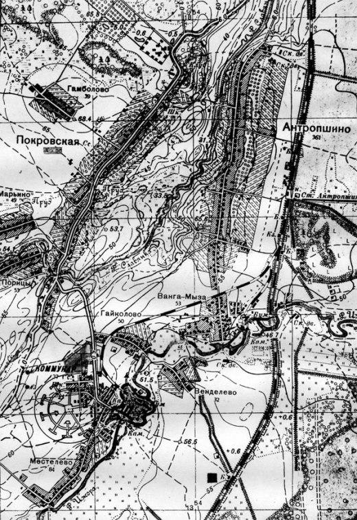 Топографическая карта 1939 г.