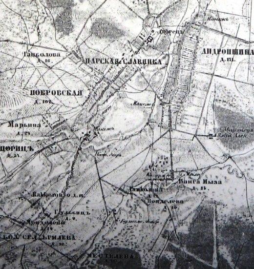 Топографическая карта 1866 г.
