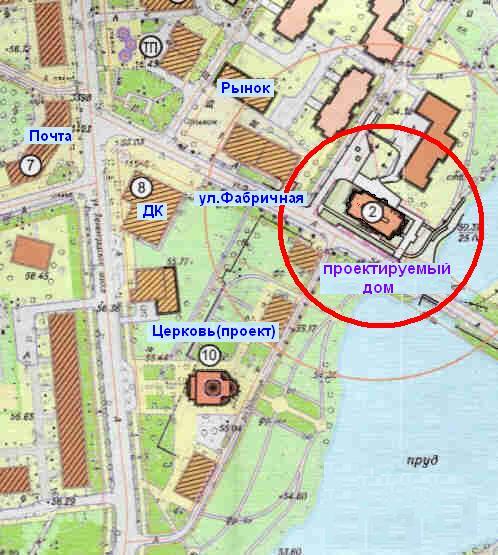 Современная Карта Окрестностей Коммунара