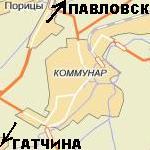 Расположение и карта г. Коммунар