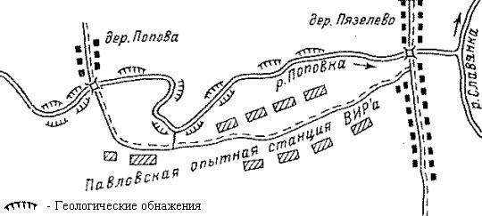 Геологические обнажения на р. Поповка